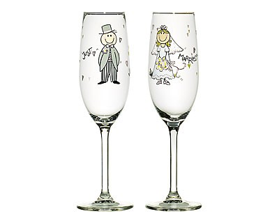 Champagneglas Just Married